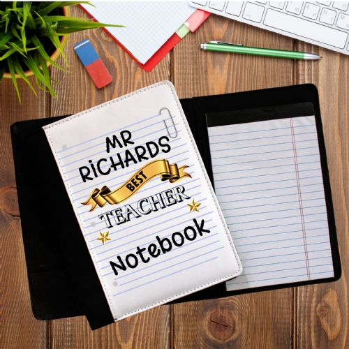 Personalised Best Teacher Notebook Notepad with paper N6